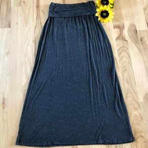 a.n.a. Maxi Skirt with Fold Over Waistband